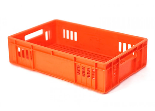 Caja de Plastico Rectangular Calado Grande 53 X 34.5 X 13.5cm