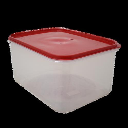 Caja Plastica Transparente con Tapa Hermetica