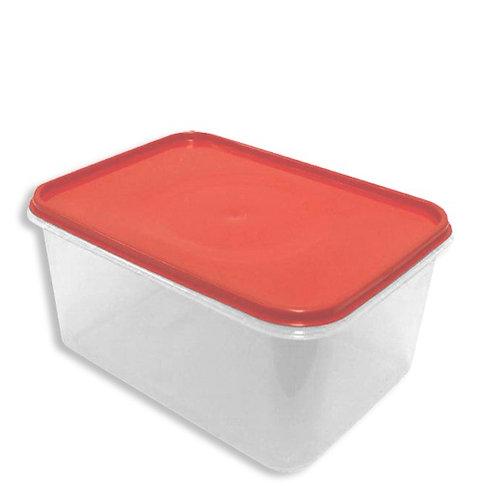 Caja Plastica Transparente con Tapa Hermetica Nº 4 34cm x 24.5cm x 16cm