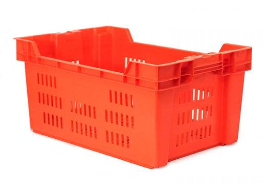 Caja de Plastico Ontario Calada Naranja 60 x 40 x 28 cm