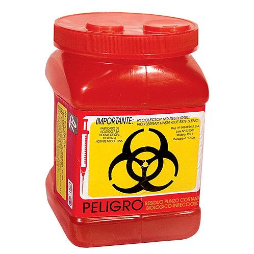 Contenedor Recolector Punzocortantes RPBI PC-1 Rojo