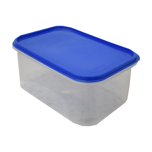 Caja Plastica Transparente con Tapa Hermetica Nº 1 25cm x 17cm x 12cm