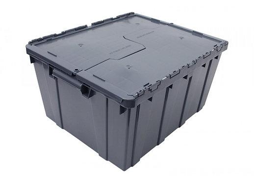 Caja de Plastico con Tapa Bisagras Grande 60cm x 50cm x 32cm