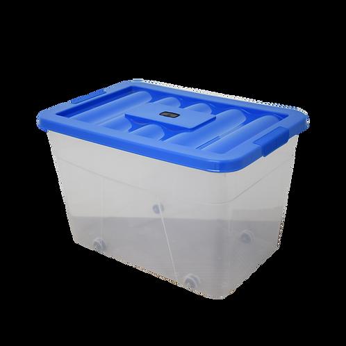 Caja de plastico transparente con tapa Erick 37