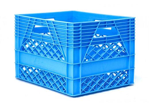 Caja de Plastico azul Lechera de 20 litros 44 X 33 X 27cm