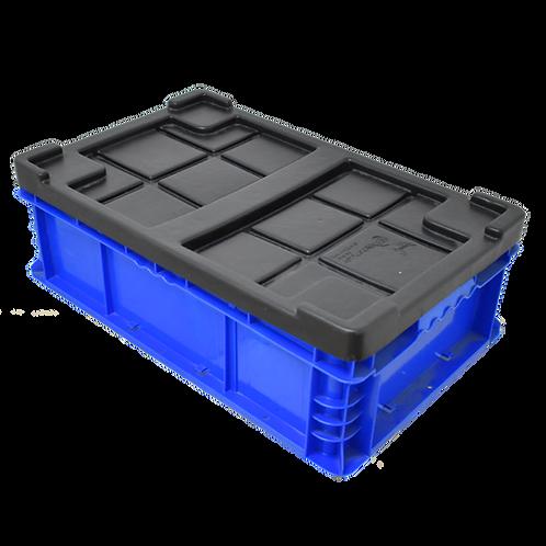 """Caja de Plastico con Tapa Azul Tier One 23"""" X 14"""" X 7"""""""