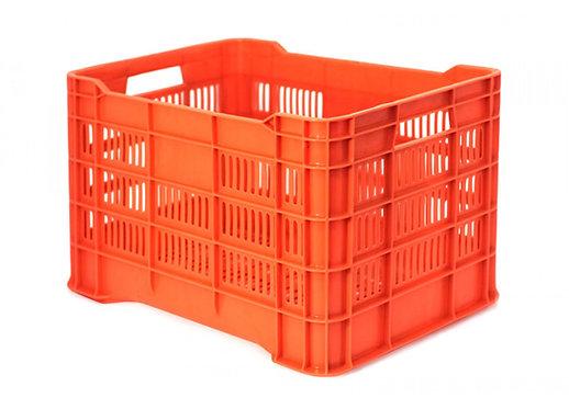 Caja de Plastico Walterino naranja Calada Ligera 50.5 X 33 X 28.5cm