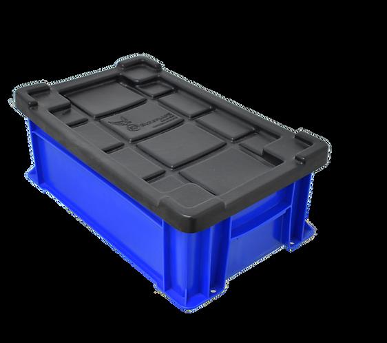 Caja de Platico Industrial con Tapa Nueva Alta No. 2 45cm x 27cm x 15.3cm