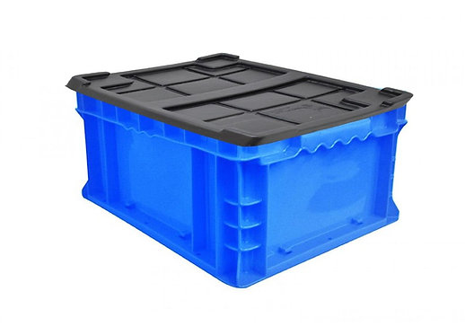 Caja de plastico azul Tier One 14x11x7
