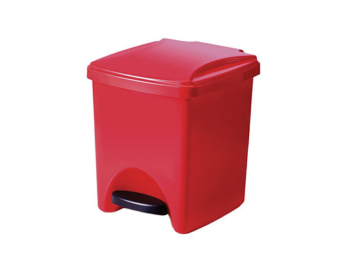 Papelera rojo de Pedal y Tapa de 20 Litros