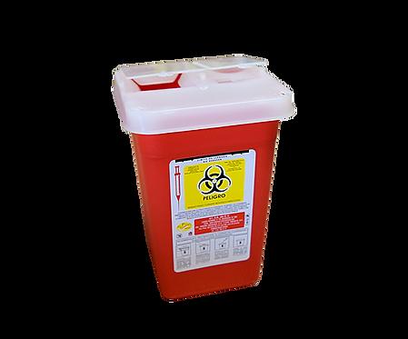 Contenedor Recolector Punzocortantes RPBI PC-1N Rojo