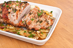 Boneless Pork Loin Roast with Herbed Pep