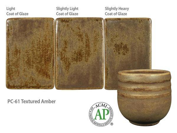 PC-61_Textured Amber glaze