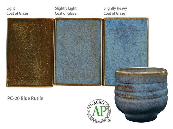 PC-20_Blue Rutile glaze