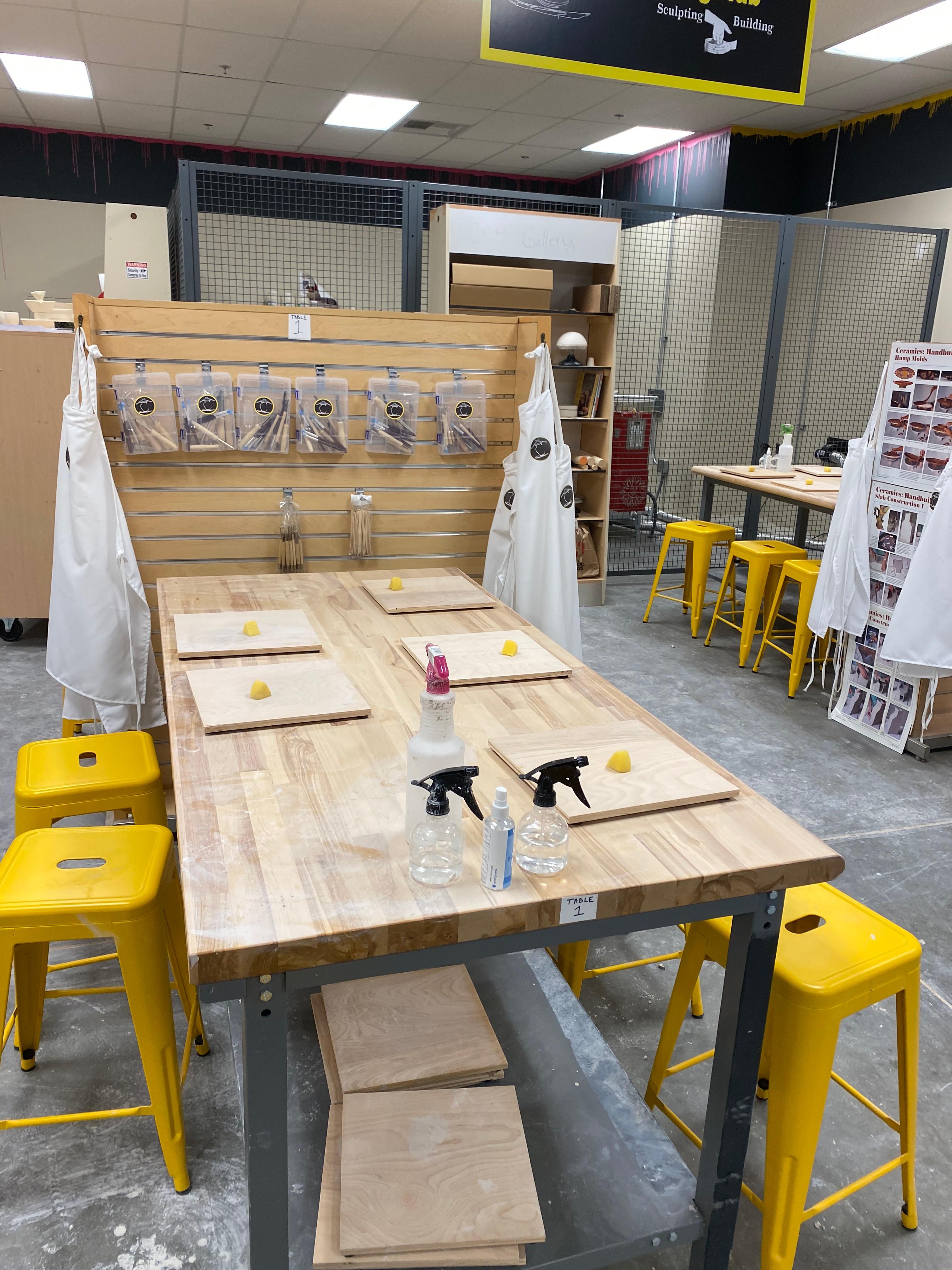 Handbuilding Hub Table