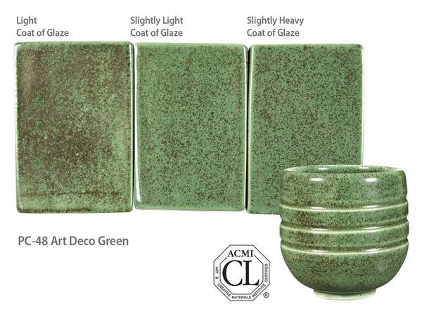 PC-48_Art Deco Green glaze