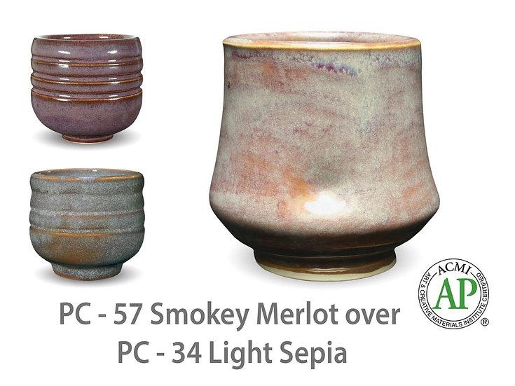PC-57 Smokey Merlot OVER PC-34 Light Sepia