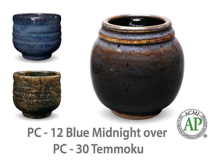 PC-12 Blue Midnight OVER PC-30 Temmoku