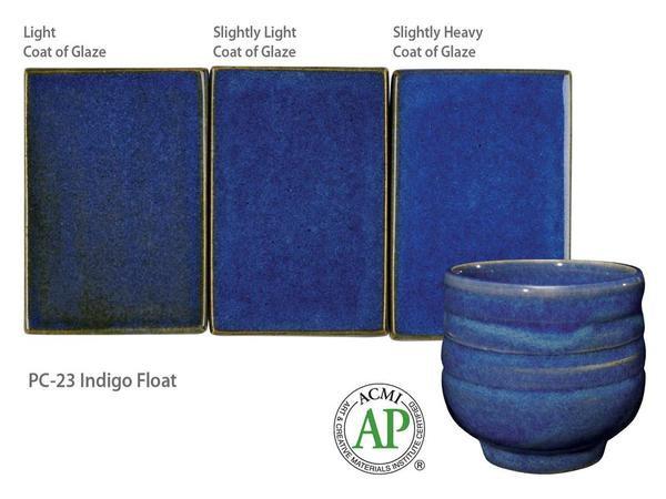 PC-23_Indigo Float glaze