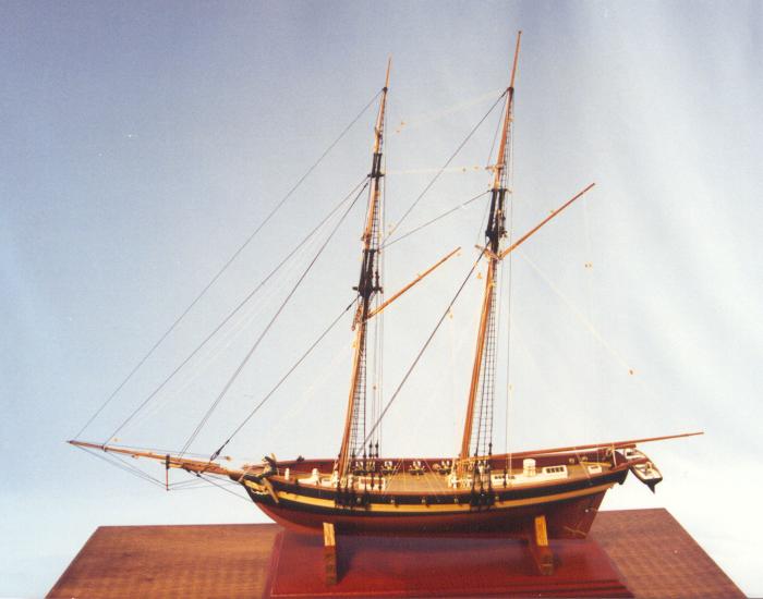 Laura Virginia privateer 1812 1:64