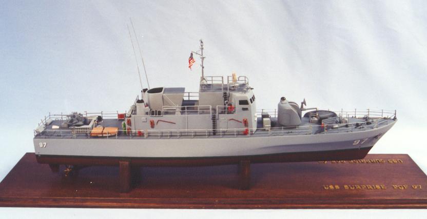 USS Surprise PG-97 fast patrol gunboat 1:72