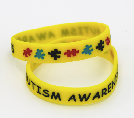 Autism Awareness Wristbands - Colorful Puzzle Pieces Silicone Bracelets