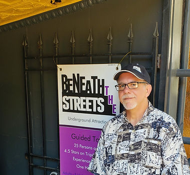 Chuck Russell-Coons, tour guide, Beneath the Streets