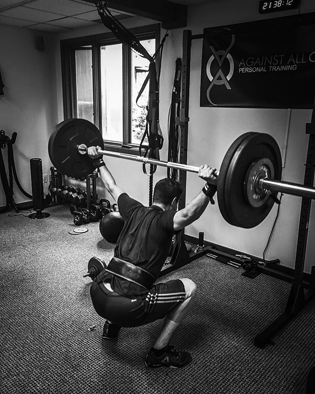 Working on OHS_client_ Matt_#grindtime #grind #makeyourmark #fit #fitness #fitfam #OHS#crossfit #squ