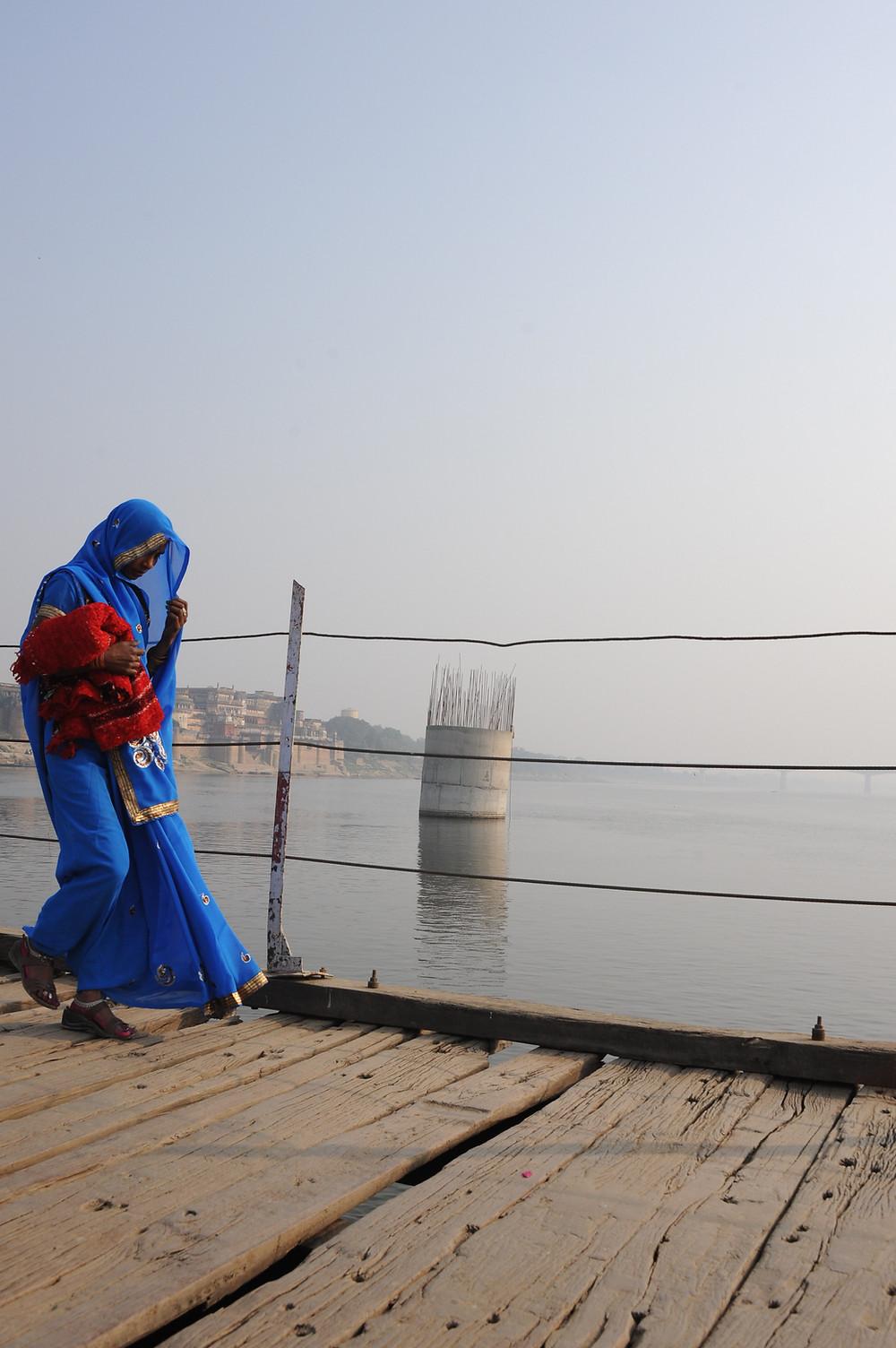 Pondichéry, 31 décembre, face à la plage Gandhi