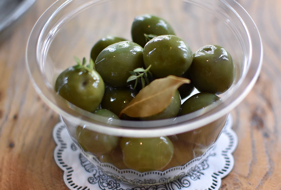 Sicilian Green Olives with Fresh Thyme