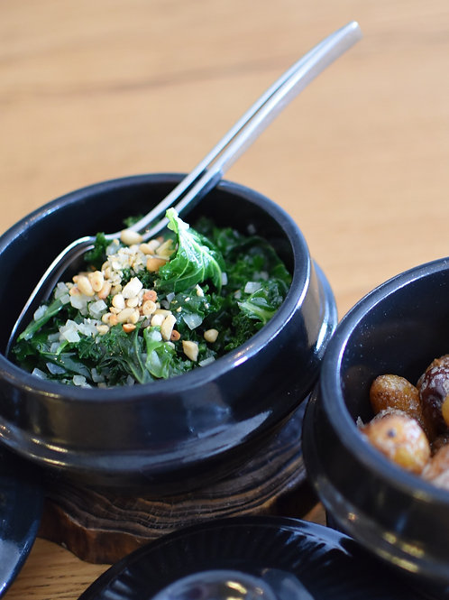Kale and Pine Nuts
