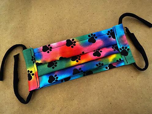CHILD RTS Rainbow Paws Fabric Pocket Mask