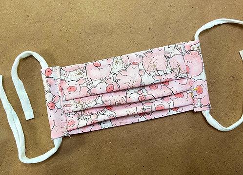 CHILD RTS Pink Pigs Fabric Pocket Mask