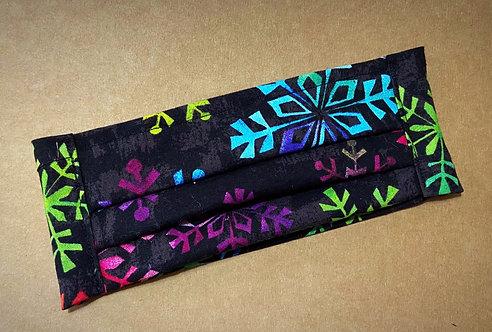 ADULT RTS Rainbow Snowflakes Fabric Mask - No Pocket