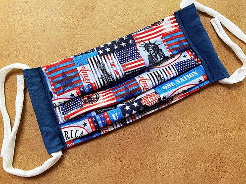 ADULT RTS Patriotic Fabric Pocket Mask