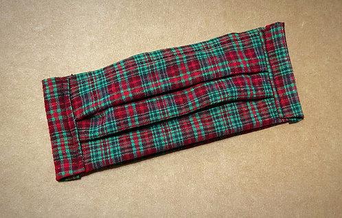 ADULT RTS Holiday Plaid Fabric Mask - No Pocket