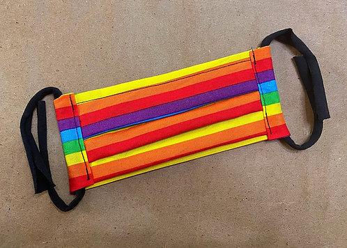 ADULT RTS Rainbow Pride Fabric Pocket Mask