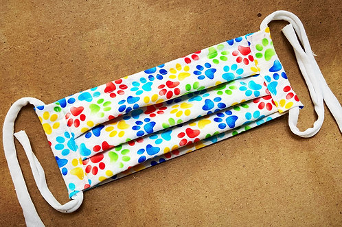 CHILD RTS Watercolored Paws Fabric Pocket Mask