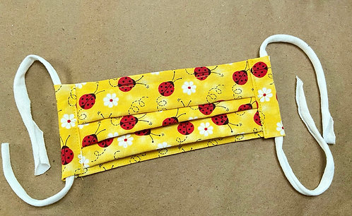 CHILD RTS Lady Bugs in the Sun Fabric Pocket Mask