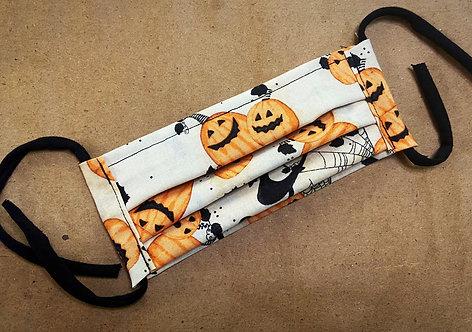ADULT RTS Halloween Jolly Pumpkins Fabric Pocket Mask