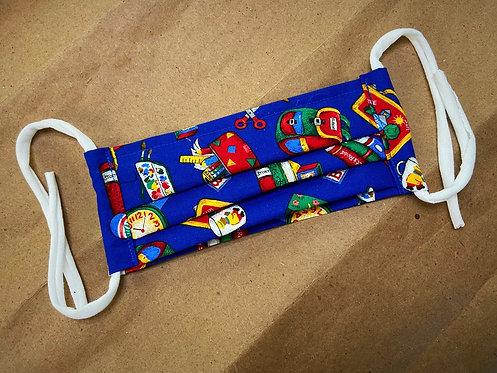 *SCHOOL* CHILD School Supplies Fabric Pocket Mask