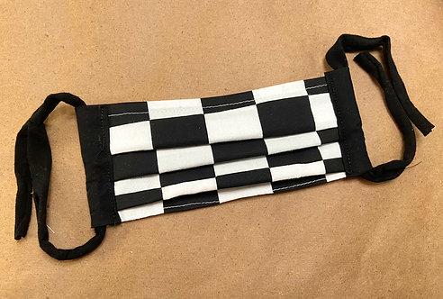 ADULT RTS Checkerboard Fabric Pocket Mask