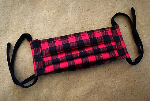 ADULT RTS Red Buffalo Plaid Pocket Mask