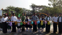 New Playground at Kan Taw School