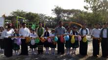 New Playground at Kan Taw School