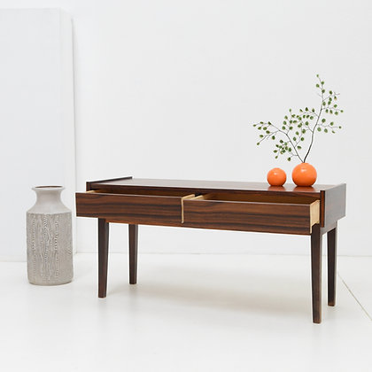Rosewood Double Drawer Bench Table -   Denmark  c. 1960s