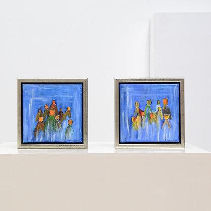 ON HOLD - Set of Small Studio Artist Paintings - Johnny Ha