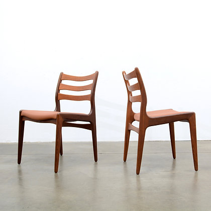 a fine set of 6 Danish Modern Teak Dining Chairs, c. 1960s