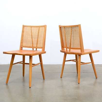 A set of 6 Solid Maple Dining Chairs - Conant Ball, c. 1950s