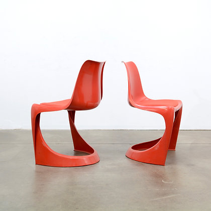 """a set of 8 """"A Line"""" Dining Chairs - Steen Østergaard for Cado, c. 1960s"""
